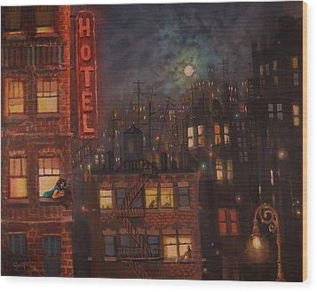 Heartbreak Hotel Wood Print by Tom Shropshire