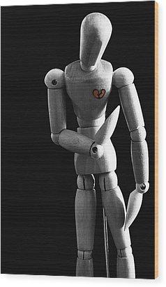 Heartbroken Mannequin Wood Print