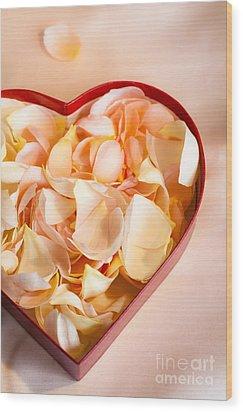 Heartfelt Wood Print by Jan Bickerton