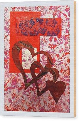 Heartfelt Thanks Wood Print by Darren Robinson