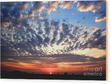 Heartland Sunrise Wood Print