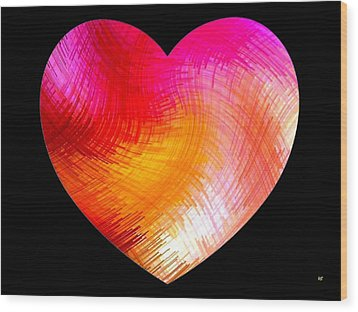 Heartline 6 Wood Print by Will Borden