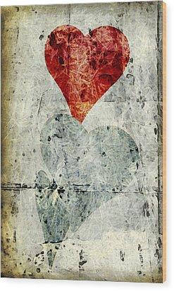 Hearts 1 Wood Print by Edward Fielding