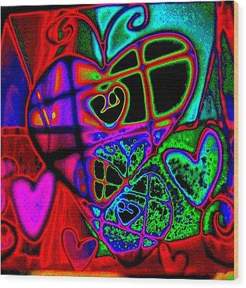 Hearts Desire Wood Print by Rebecca Flaig