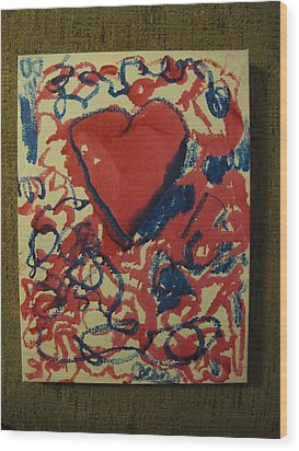 Hearts Entwined Wood Print by Lawrence Christopher