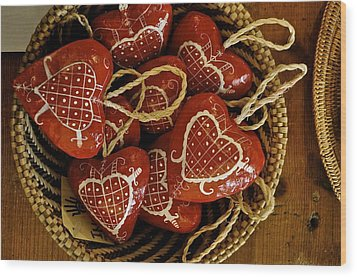 Hearts For Haiti  Wood Print by Brynn Ditsche