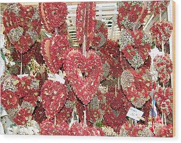 Heart's Full Of Flowers Wood Print by Linda Prewer