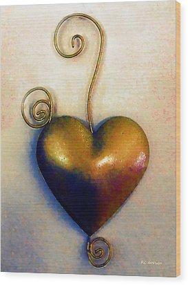 Heartswirls Wood Print by RC deWinter