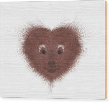 Hearty Beast 1 Wood Print