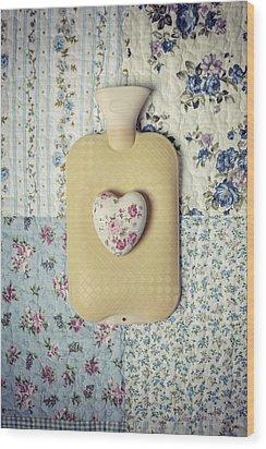 Hearty Hot-water Bottle Wood Print by Joana Kruse