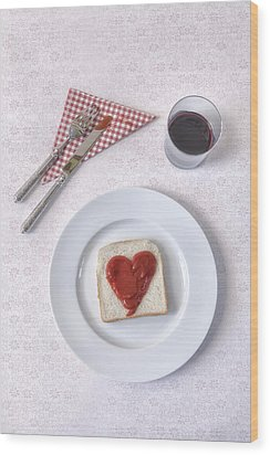 Hearty Toast Wood Print by Joana Kruse