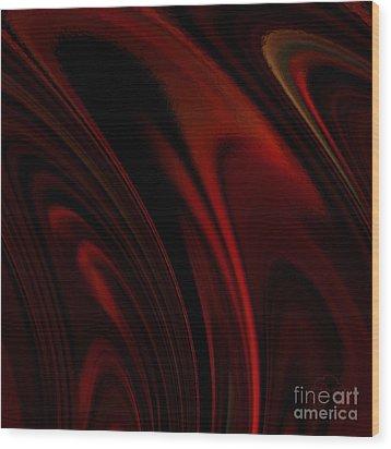 Heat Rings Wood Print by Patricia Kay