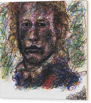 Heath Ledger As Gabriel Martin - The Patriot Wood Print by Rachel Scott