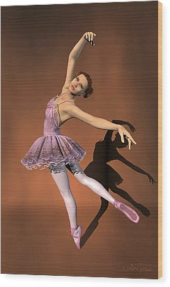 Heaven - Ballerina Portrait Wood Print by Andre Price