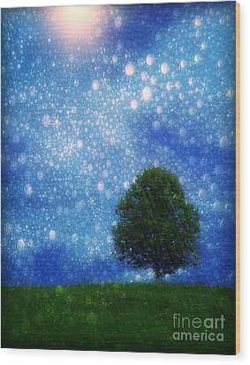 Heaven And Earth Wood Print by Rory Sagner