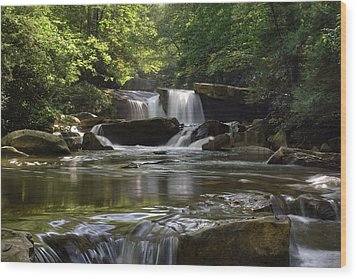 Heavenly Bliss On Decker Creek Wood Print