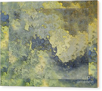 Heavenly Clouds Abstract Wood Print by Debbie Portwood