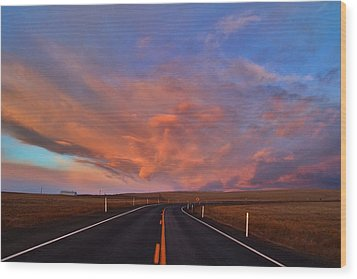 Wood Print featuring the photograph Heavenly Clouds by Lynn Hopwood