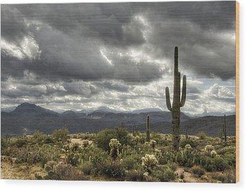 Heavenly Desert Skies  Wood Print by Saija  Lehtonen