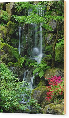Heavenly Falls Serenity Wood Print by Don Schwartz
