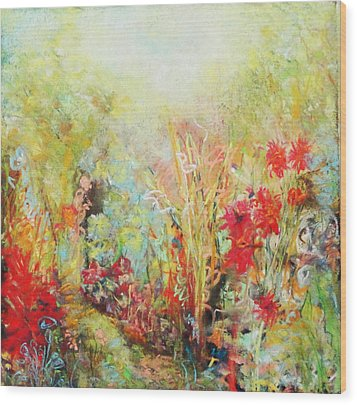 Heavenly Garden Wood Print