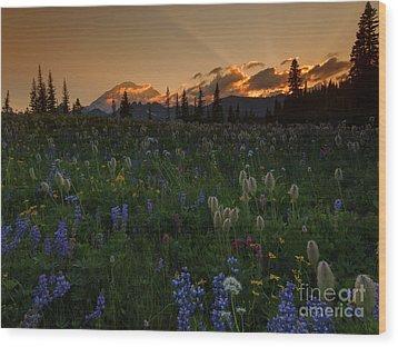 Heavenly Garden Wood Print by Mike  Dawson