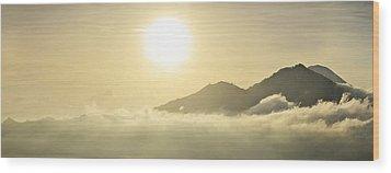 Heavenly Peaks Wood Print by Sebastien Coursol