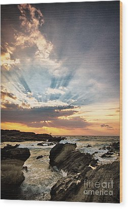Heavenly Skies Wood Print by John Swartz