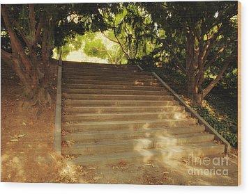 Heavenly Stairway Wood Print by Madeline Ellis