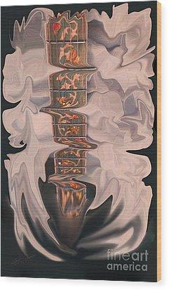 Heavenly Strings Wood Print by Steven Lebron Langston