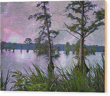 Heavenly Sunrise Wood Print by J Larry Walker