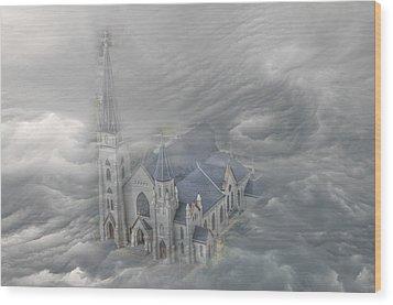 Heavenly View Wood Print