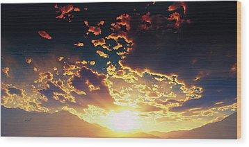 Heavens Breath 25 Wood Print