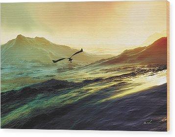 Heavens Breath 29 Wood Print by The Art of Marsha Charlebois