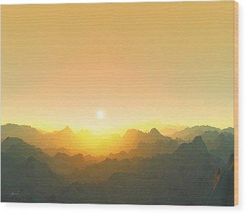 Heavens Breath 3 Wood Print