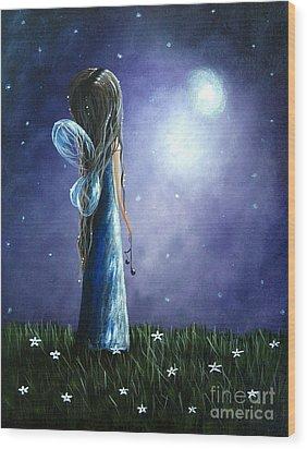 Heaven's Little Helper By Shawna Erback Wood Print by Shawna Erback