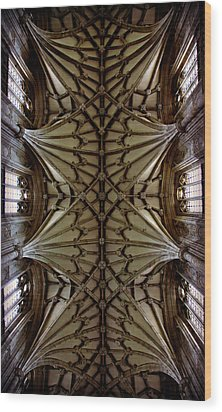 Heavenward -- Winchester Cathedral Ceiling Wood Print by Stephen Stookey