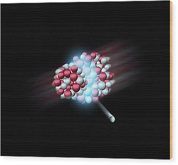 Heavy Atomic Nuclei Colliding, Artwork Wood Print by Science Photo Library