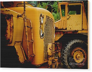 Heavy Equipment Wood Print by Amy Cicconi