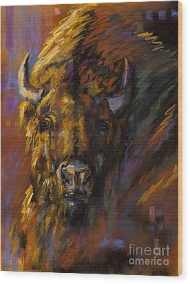 Heavy Wood Print by Frances Marino