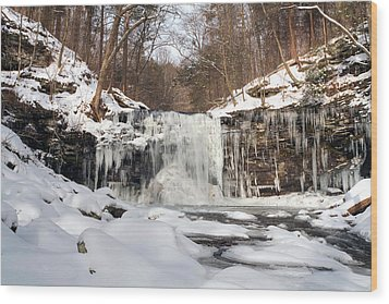 Heavy Ice At Harrison Wright Wood Print