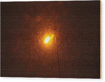 Wood Print featuring the photograph Heavy Snows By Lamplight by Jean Walker