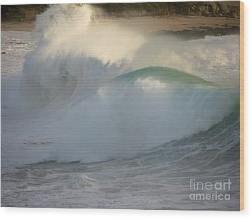 Wood Print featuring the photograph Heavy Surf At Carmel River Beach by James B Toy