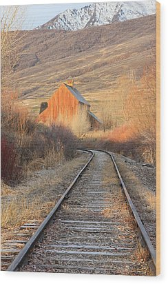 Heber Valley Railroad Wood Print by Johnny Adolphson
