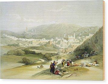 Hebron Wood Print