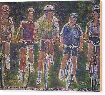 Heck On Wheels Wood Print by Linda Vaughon