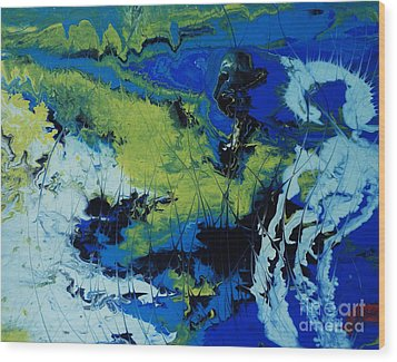 Hectic Reflections Wood Print by Arlene Sundby