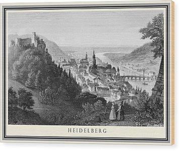 Heidelberg Etching Wood Print by Rudi Prott