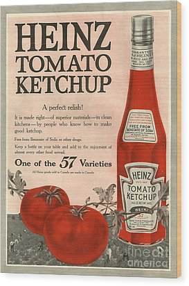 Heinz 1910s Usa Wood Print by The Advertising Archives