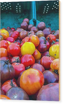 Heirloom Tomatoes V. 2.0 Wood Print